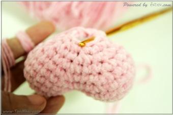 ภาพประกอบที่ 5 - ถักหัวใจอวบอั๋นด้วยโครเชต์-Heart-Crochet-step5