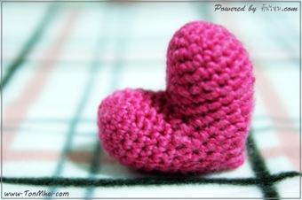 ถักโครเชต์หัวใจ ทรงสมมาตร - Perfect Heart ด้วยไหมสำลี