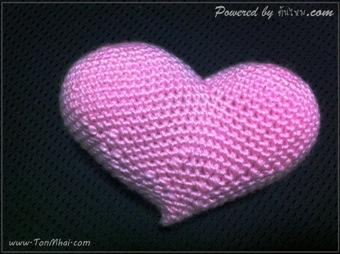ถักโครเชต์หัวใจ คัพไม่เท่ากัน - Popping Heart