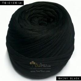 ไหมผ้า (T-shirt yarn) สีดำมัน (Shiny Black)