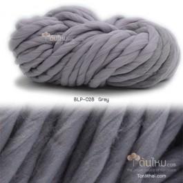 ไหมพรมเกาหลี บิ๊กลูป (Korean Big Loop) สีเทา (Gray)