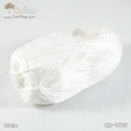 ไหมพรม คอตต้อน แบมบู สีขาว (White)