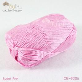 ไหมพรม คอตต้อน แบมบู สีชมพูหวาน (Sweet Pink)