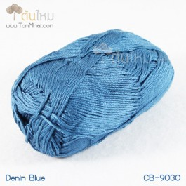 ไหมพรม คอตต้อน แบมบู สีน้ำเงินยีนส์ (Denim Blue Jean)