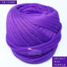 ไหมผ้า (T-shirt yarn) สีม่วงไทยพาณิชย์สดสว่าง (Bright SCB Purple)