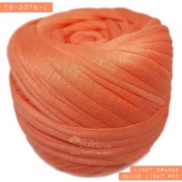 ไหมผ้า (T-shirt yarn) สีส้มอ่อนอมแดงเล็กน้อย (Light Orange shade light red )
