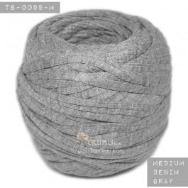 ไหมผ้า (T-shirt yarn) สีเทายีนส์กลาง (Middle Denim Gray)