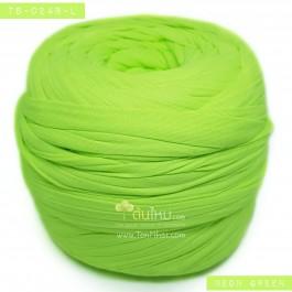 ไหมผ้า (T-shirt yarn) สีเขียวนีออน (Neon Green)