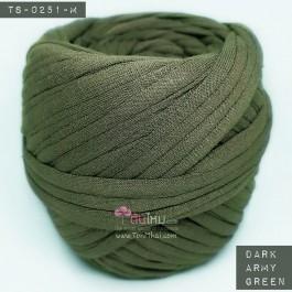 ไหมผ้า (T-shirt yarn) สีเขียวทหารเข้ม (Dark Army Green)