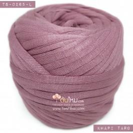 ไหมผ้า (T-shirt yarn) สีชมพูกะปิอมม่วงเผือก (Khapi Pink shade Taro Purple)