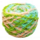 ไหมพรมขนแกะเหลือบ สีเขียวโซดา/เขียวตอง/ครีมส้ม