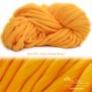 ไหมพรมเกาหลี บิ๊กลูป (Korean Big Loop) สีเหลืองอมส้มทอง หมีพูห์ (Yellow shade Orange - Pooh color)