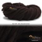 ไหมพรมเกาหลี บิ๊กลูป (Korean Big Loop) สีน้ำตาลดาร์คช็อก (Dark Chocolate Brown)