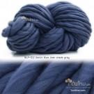 ไหมพรมเกาหลี บิ๊กลูป (Korean Big Loop) สีน้ำเงินยีนส์อมเทา (Denim Blue Jean Shades Gray)