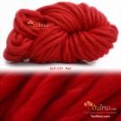 ไหมพรมเกาหลี บิ๊กลูป (Korean Big Loop) สีแดงสด (Red)