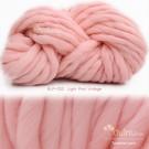 ไหมพรมเกาหลี บิ๊กลูป (Korean Big Loop) สีชมพูวินเทจอ่อน (Light Pink Vintage)
