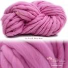 ไหมพรมเกาหลี บิ๊กลูป (Korean Big Loop) สีชมพูกุหลาบอมม่วง (Pink Rose shade purple)