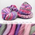 ไหมพรมเกาหลี บิ๊กลูป (Korean Big Loop) สีน้ำหวานกับเงาหลอดสีเทา ชมพู-กุหลาบ-ม่วง-เทา (Juicy Sweet in Shadow - Pink-Rose-Purple-Gray)