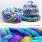 ไหมพรมเกาหลี บิ๊กลูป (Korean Big Loop) สีเย็นสดชื่น เหลือง-ฟ้าใส-ม่วงอมฟ้าทะเล-ม่วง (Cooling Fresh - Yellow-LightBlue-VioletBlue-Purple)
