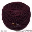 ไหมพรมเบบี้ซิลค์ ม่วงเปลือกมังคุดเข้ม อมน้ำตาลดาร์ค (Dark Mangosteen Purple shade brown)