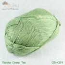 ไหมพรม คอตต้อน แบมบู สีมัจฉะชาเขียว (Matcha GreenTea)