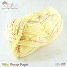 ไหมพรม คอตต้อน แบมบู สีเหลือง/ส้ม/ม่วง (Yellow/Orange/Purple)