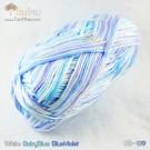 ไหมพรม คอตต้อน แบมบู สีขาว/ฟ้าใส/ฟ้าอมม่วง (White/BabyBlue/BlueViolet)
