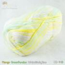ไหมพรม คอตต้อน แบมบู สีข้าวเหนียวมะม่วง ขาว/เหลืองมะม่วง/เขียวใบเตย (Mango/GreenPandan/ WhiteStickyRice)