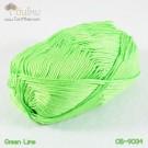ไหมพรม คอตต้อน แบมบู สีเขียวมะนาว (Green Lime)