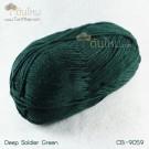ไหมพรม คอตต้อน แบมบู สีเขียวทหารมืด (Deep Soldier Green)