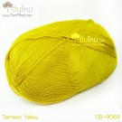 ไหมพรม คอตต้อน แบมบู สีเหลืองขมิ้น (Termaric Yellow)