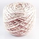 ไหมพรม คอตตอน เพิร์ล เบจเนื้ออ่อนอมชมพูเผือกเมทัลลิค (Pearl Cotton - Light Ivory Beige Pale Metallic Pink)