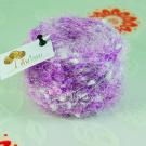ไหมพรม สโนว์วี่ คริสตัล ขาว-ม่วงอัญชัน White-Purple ButterflyPea Wink