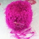 ไหมพรม สโนว์วี่ คริสตัล ชมพูเข้มจี๊ด (บานเย็น) Hot Pink Wink