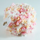 ไหมพรมดอกไม้ ขาว/ชมพู/โอรสส้ม