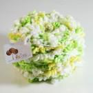 ไหมพรมดอกไม้ เขียวอ่อน/เหลืองอ่อน/ขาว