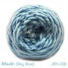 ไหมพรมเส้นใหญ่จัมโบ้ซุปเปอร์ซอฟท์ สีท้องฟ้า (Jumbo SuperSoft - Sky Blue)