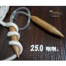 ไม้นิตติ้งวงกลม ไม้ไผ่ 25mm. ยาว 80cm. (ไม้นิตสำหรับไหมพรมบิ๊กลูป Big Loop หรือ Loopy Mango Knitting Needle)