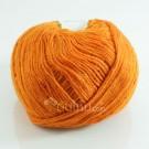 ไหมพรม ประกายวิ้ง (momotara) สีส้มเข้ม ประกายทอง