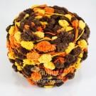 ไหมพรมรังไหม เหลือง/ส้ม/น้ำตาลเข้ม Chocolate Orange