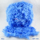 ไหมพรมขนเฟอร์ ซิลค์กี้ ซอฟท์ (Silky Soft Fur) สีน้ำเงิน (Blue)