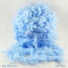 ไหมพรมขนเฟอร์ ซิลค์กี้ ซอฟท์ (Silky Soft Fur) สีท้องฟ้าน้ำทะเล (Sky Blue Sea)
