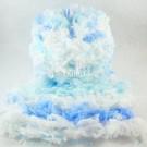 ไหมพรมขนเฟอร์ ซิลค์กี้ ซอฟท์ (Silky Soft Fur) สีท้องฟ้าและทะเล - ขาว/ฟ้าใส/ฟ้าน้ำทะเล (Clear Sky and Blue Sea - White / Baby Blue / Sky Blue)