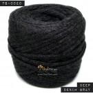 ไหมผ้า (T-shirt yarn) สีเทายีนส์มืด (Deep Denim Gray)