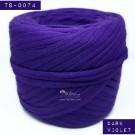 ไหมผ้า (T-shirt yarn) สีม่วงเข้ม (Dark Violet)