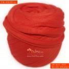 ไหมผ้า (T-shirt yarn) สีแดงสดอมส้ม (Bright Red shade Orange)