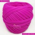 ไหมผ้า (T-shirt yarn) สีชมพูเข้มจี๊ด บานเย็นจี๊ดอมม่วง (Juicy Hot Pink)