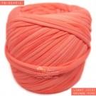 ไหมผ้า (T-shirt yarn) สีส้มอ่อนจี๊ดอมชมพูเล็กน้อย (Light Juicy Orange Pink)