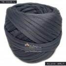 ไหมผ้า (T-shirt yarn) สีเทาดำ (Black Gray)