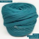 ไหมผ้า (T-shirt yarn) สีเขียวเทอร์ควอยส์อมน้ำเงินเล็กน้อย (Green Turquoise Little Blue)